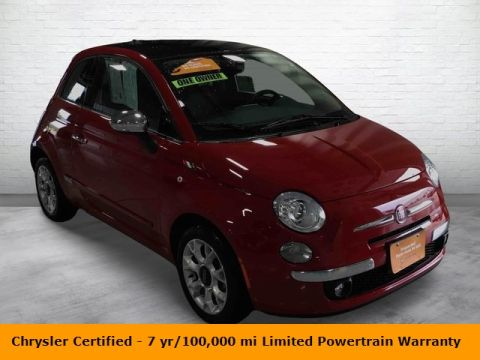 Certified Pre-Owned 2017 FIAT 500 Lounge FWD 2D Hatchback